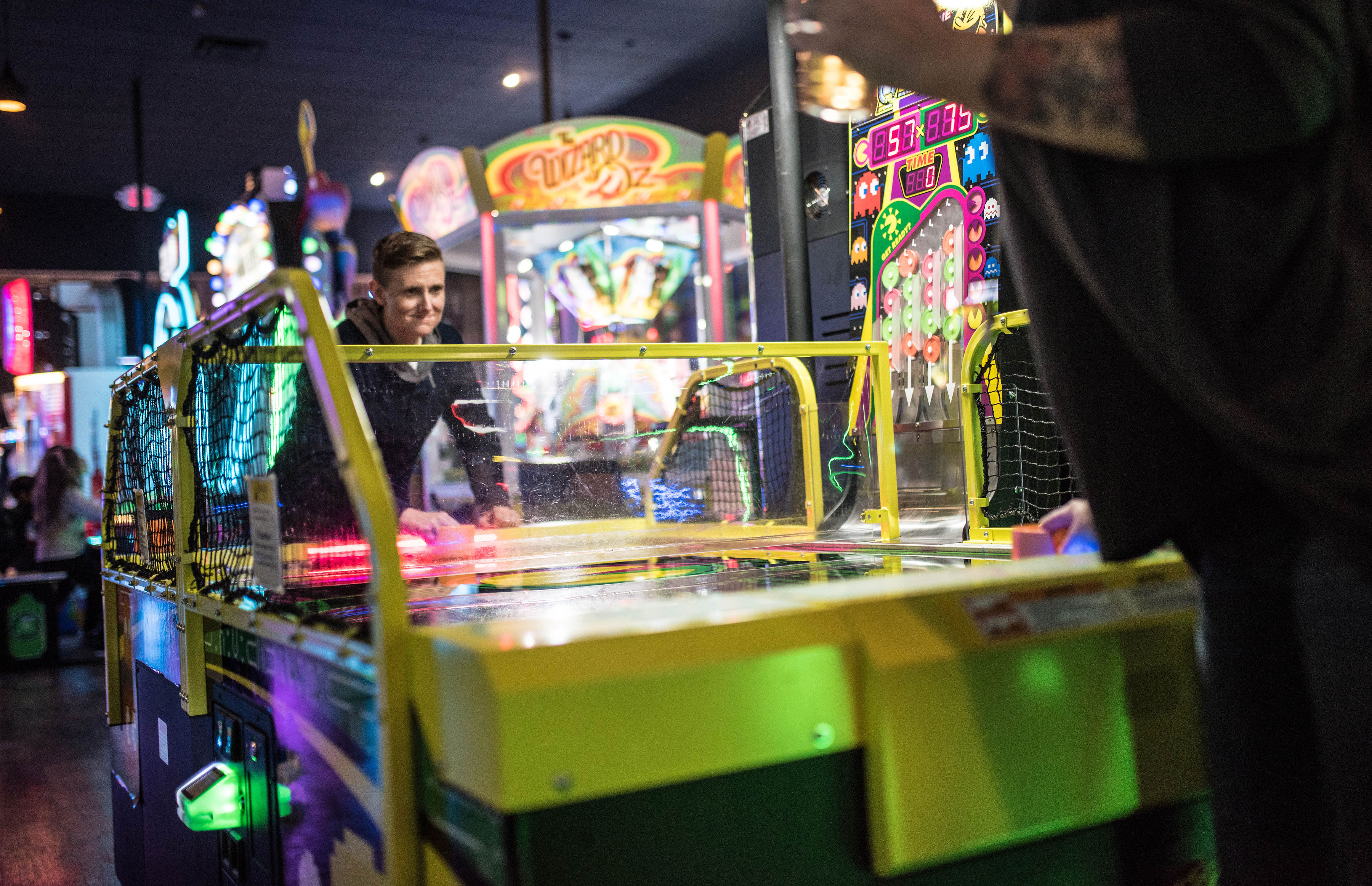 Play Air Hockey in Our Luxury Arcade