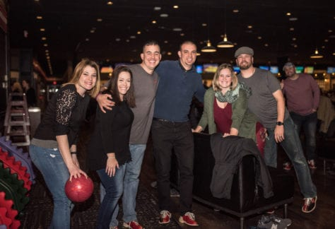 Bowling with Friends at Pinheads Entertainment Center